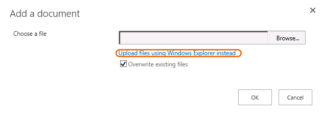 Upload Using Windows Explorer