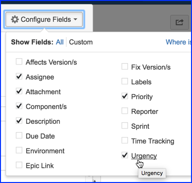 Configure Issue Fields