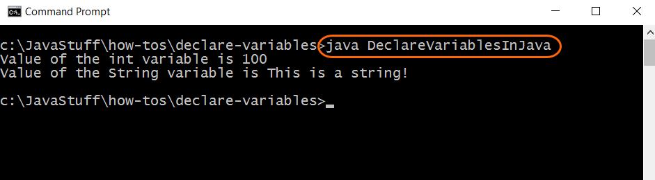 Run Program with Variable Declarations