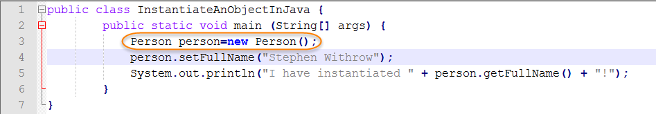 Java Source for Instantiate