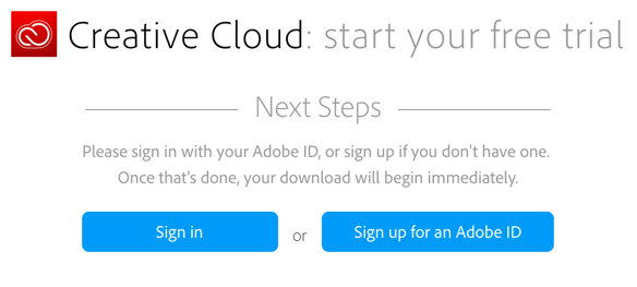 Sign up for an Adobe ID