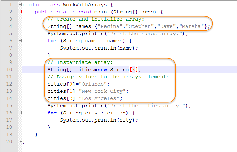 java string array initialization