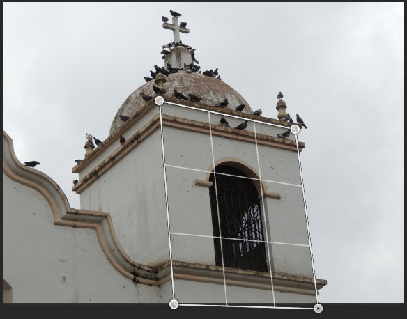 Right Grid Plane Aligned on Bell Tower Image