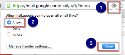 Allow Gmail in Google Chrome