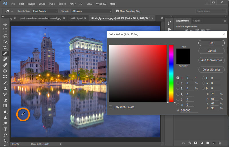 How to Create a Solid-Color Fill Layer in Adobe Photoshop