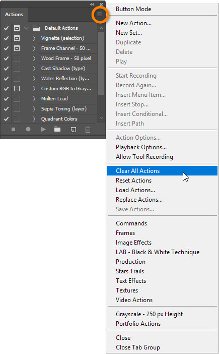 How to Save an Action Set in Adobe Photoshop | Webucator