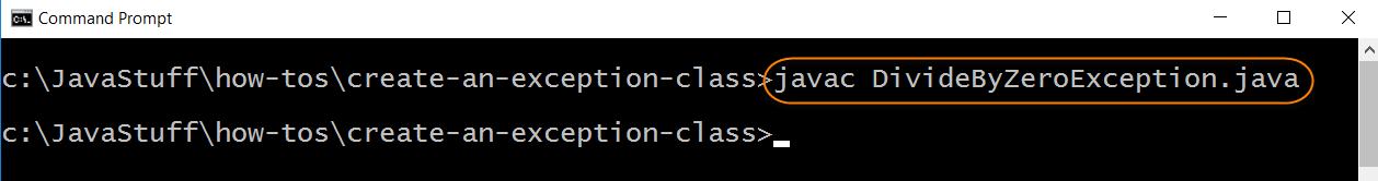 Compile Source for Create Exception