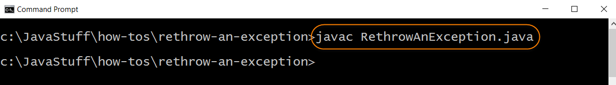 Compile Source for Rethrow Exception