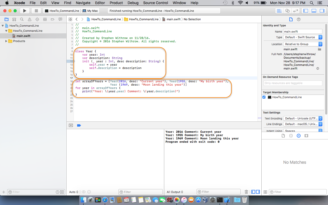 Xcode Screen Shot 1