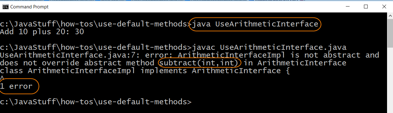 Compile Source for Test Default Method Interface