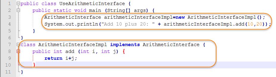 Java Source for Test Default Method Interface