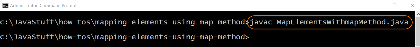 Compile Program with Map Method