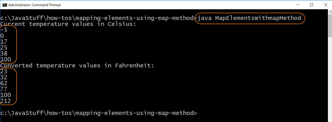 Run Program with Map Method