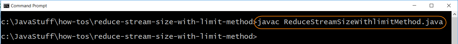 Compile Program with Limit Method