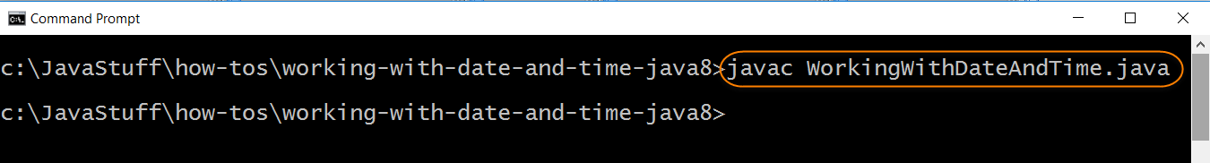 Compile Program with Date Time