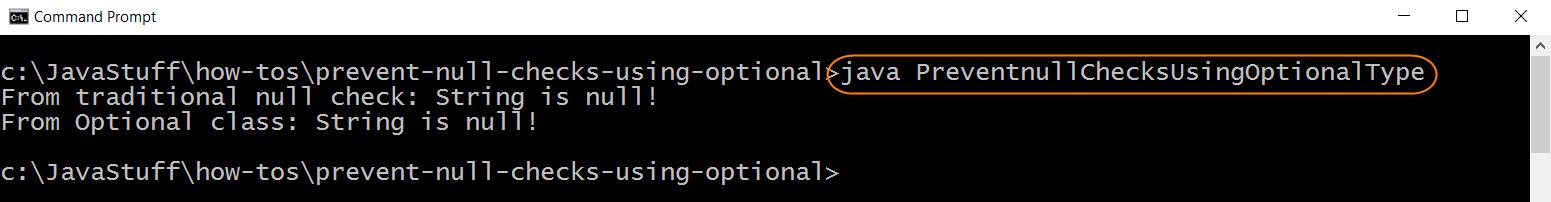 Run Program with Optional Type