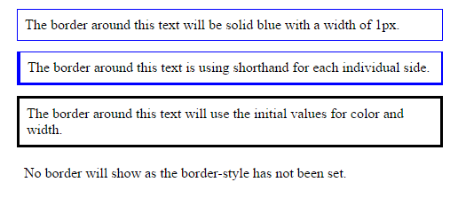 Border Shorthand