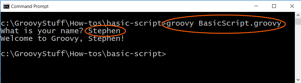 Run basic Groovy program