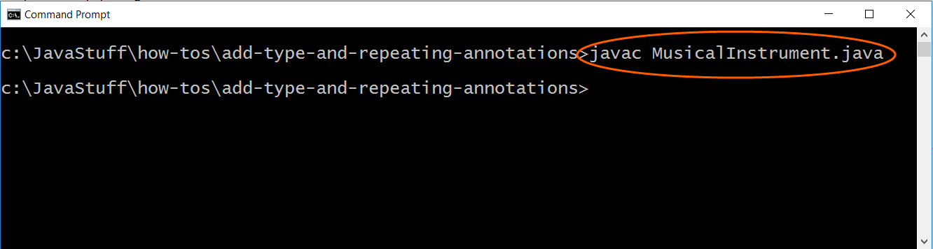 Compile program with Musical Instrument annotation