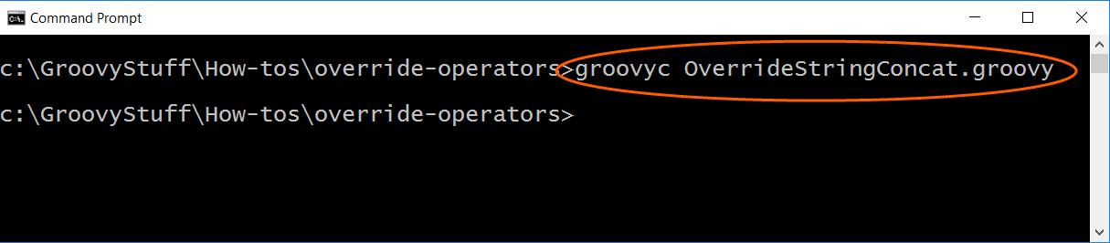 Compile Groovy override