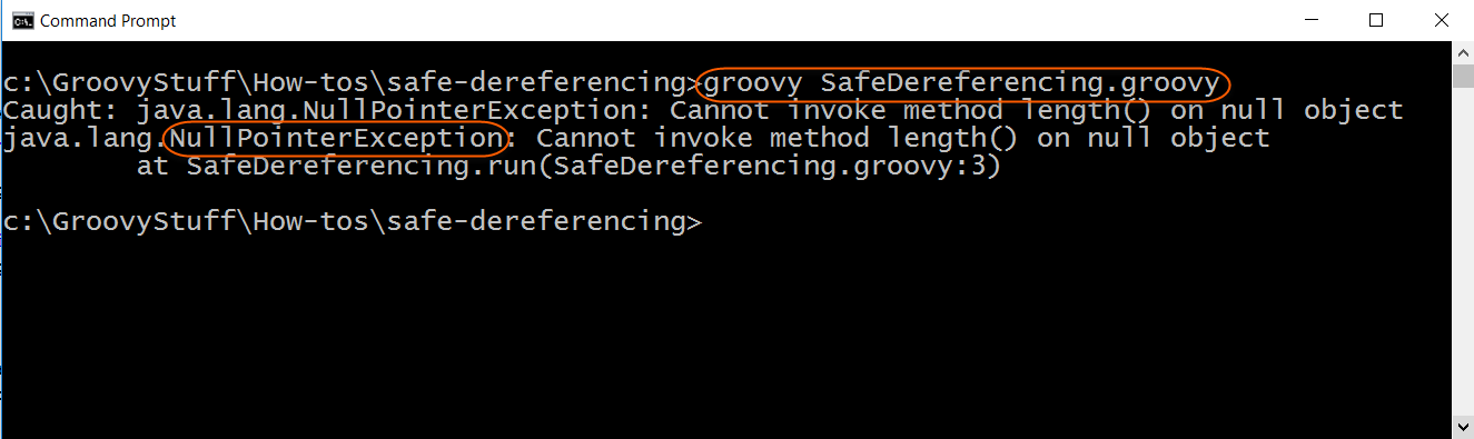 Run safe dereferencing with error script
