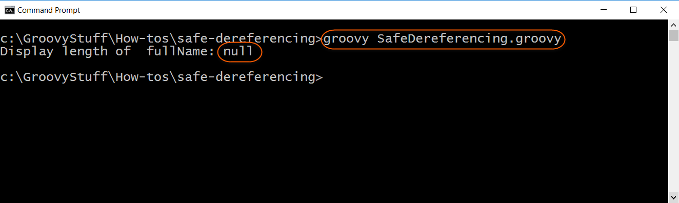 Run safe dereferencing script