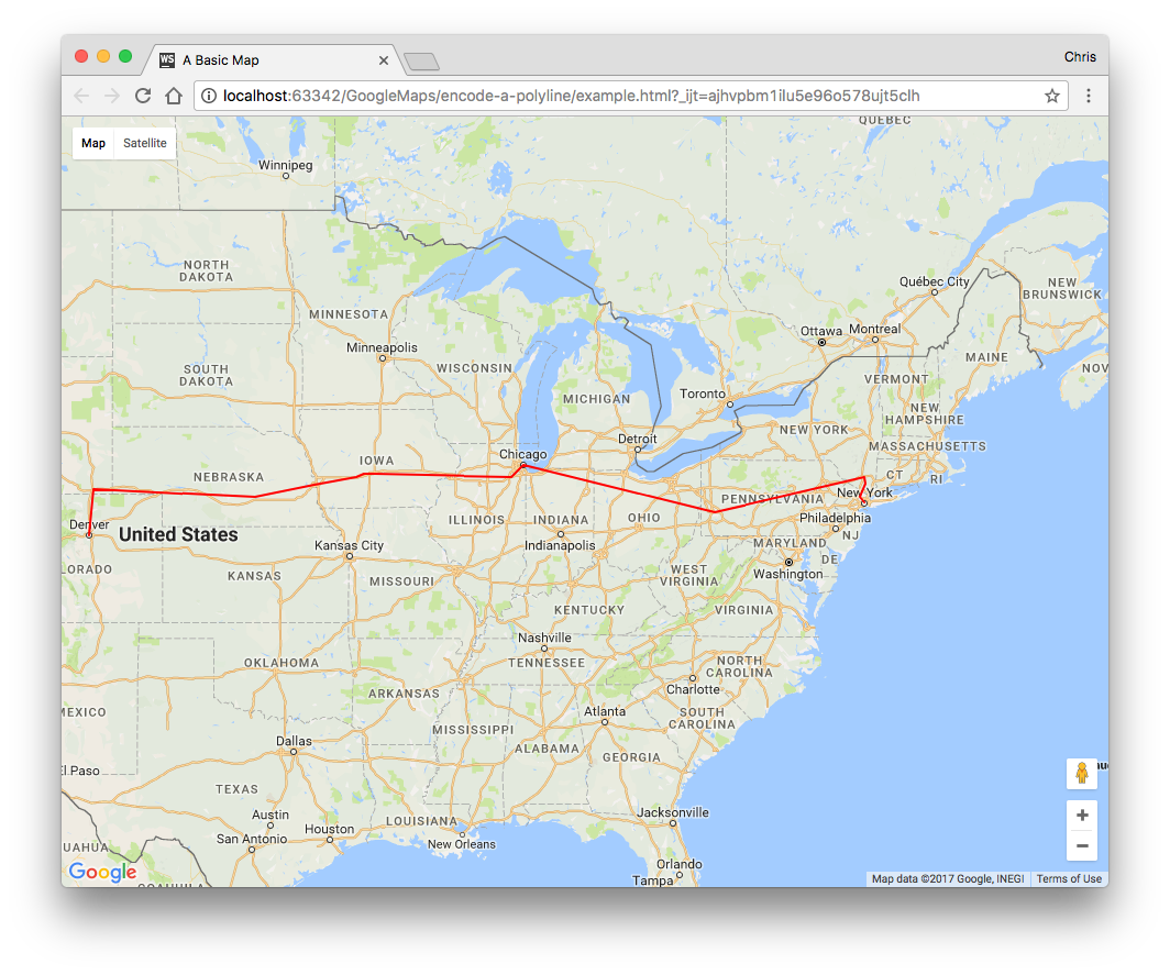 How to Encode a Polyline in a Google Map | Webucator