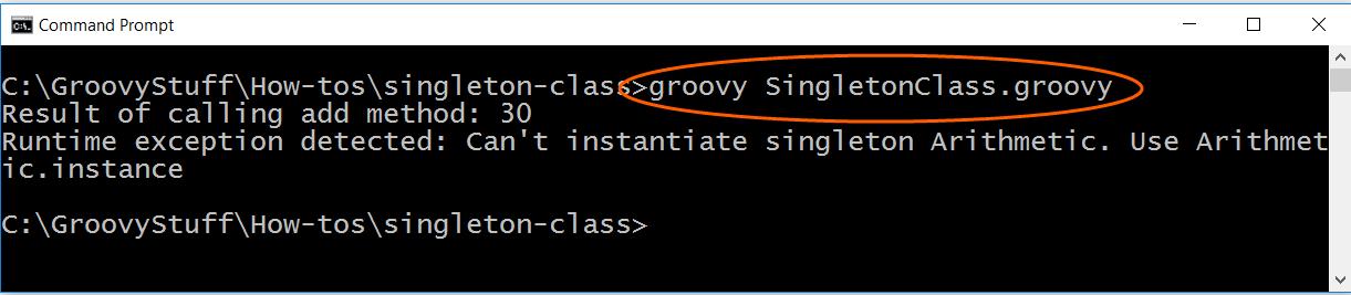 Run singleton class script
