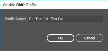 Variable Width Profile Dialog Box