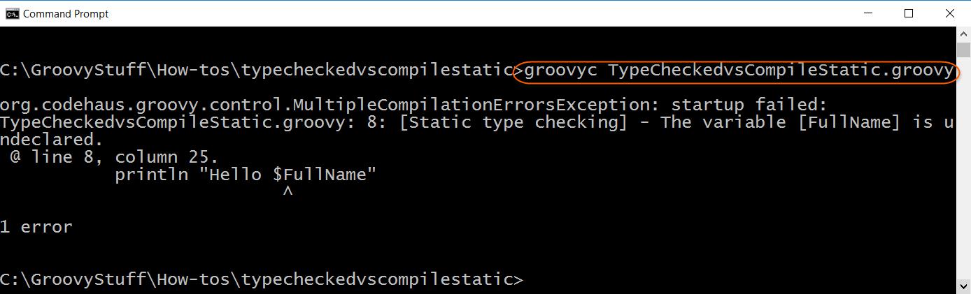 Compile script with error
