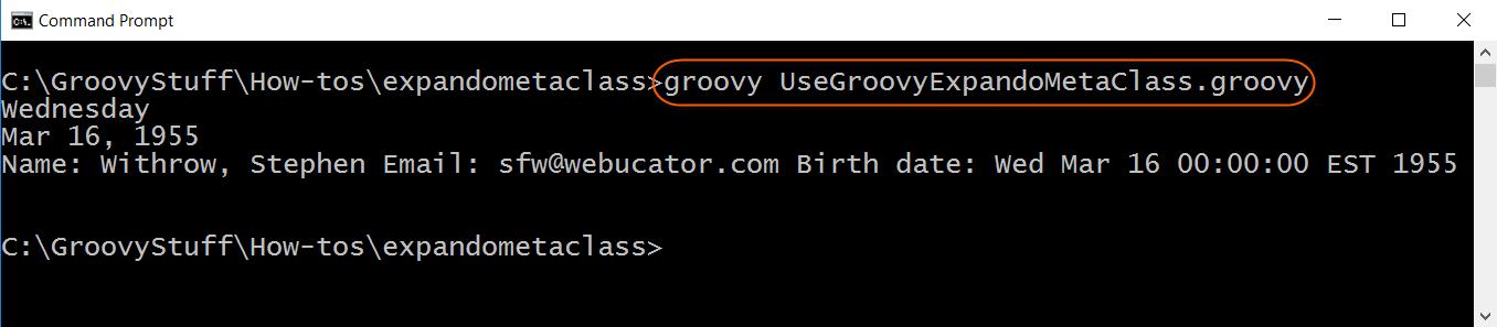 Run ExpandoMetaClass script