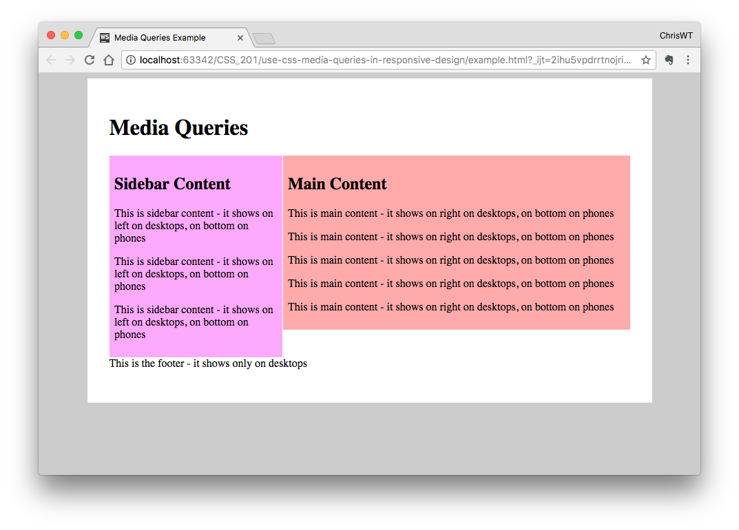 How to Use CSS Media Queries in Responsive Design | Webucator