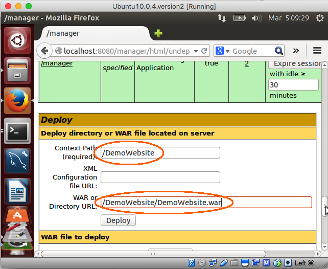 How to Deploy a Web Application Using the Apache Tomcat Manager