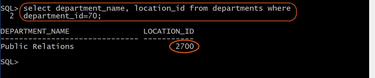 Sample department select