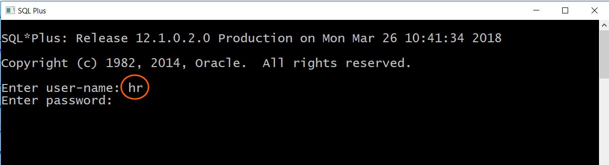 SQL Plus sign in