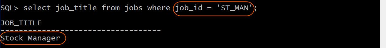 Job title select