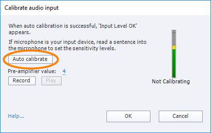 Calibrate Audio Input