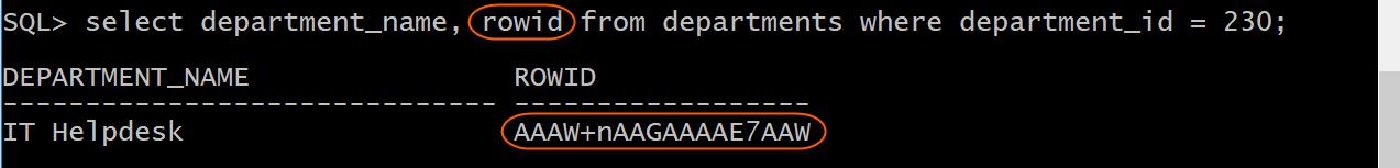 Display rowid of IT Helpdesk Department