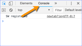 Google Developer Tools Console