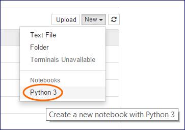New > Python 3