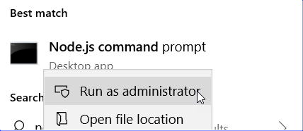 Node.js Command Prompt