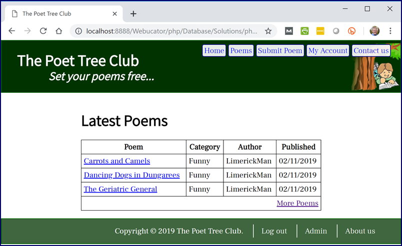 Poetree Site