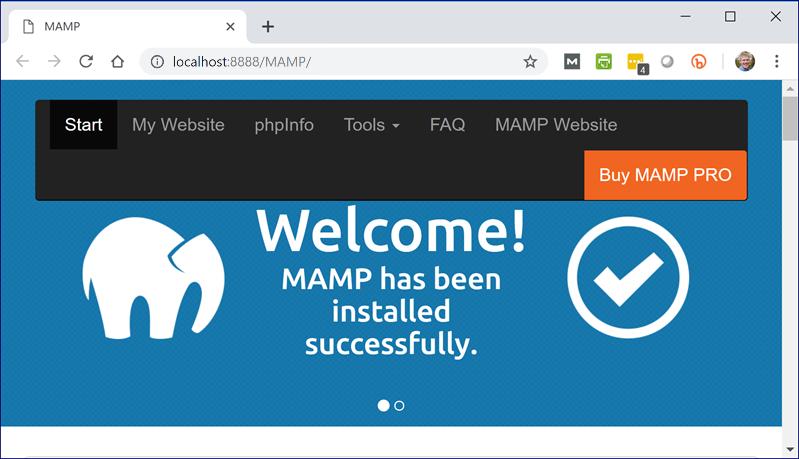 MAMP Start Page