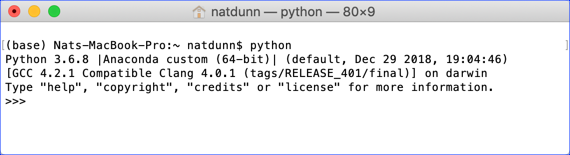Running Python at the command line