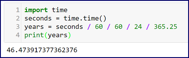 Python: Seconds to Years in One Step