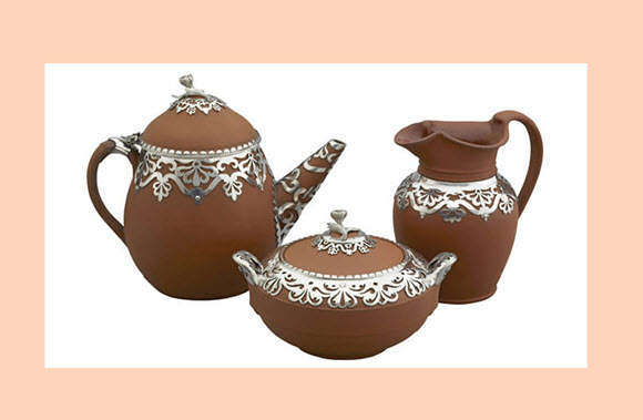 Tea Set with White Background