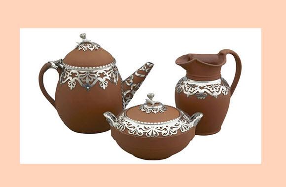 Tea Set with White Background