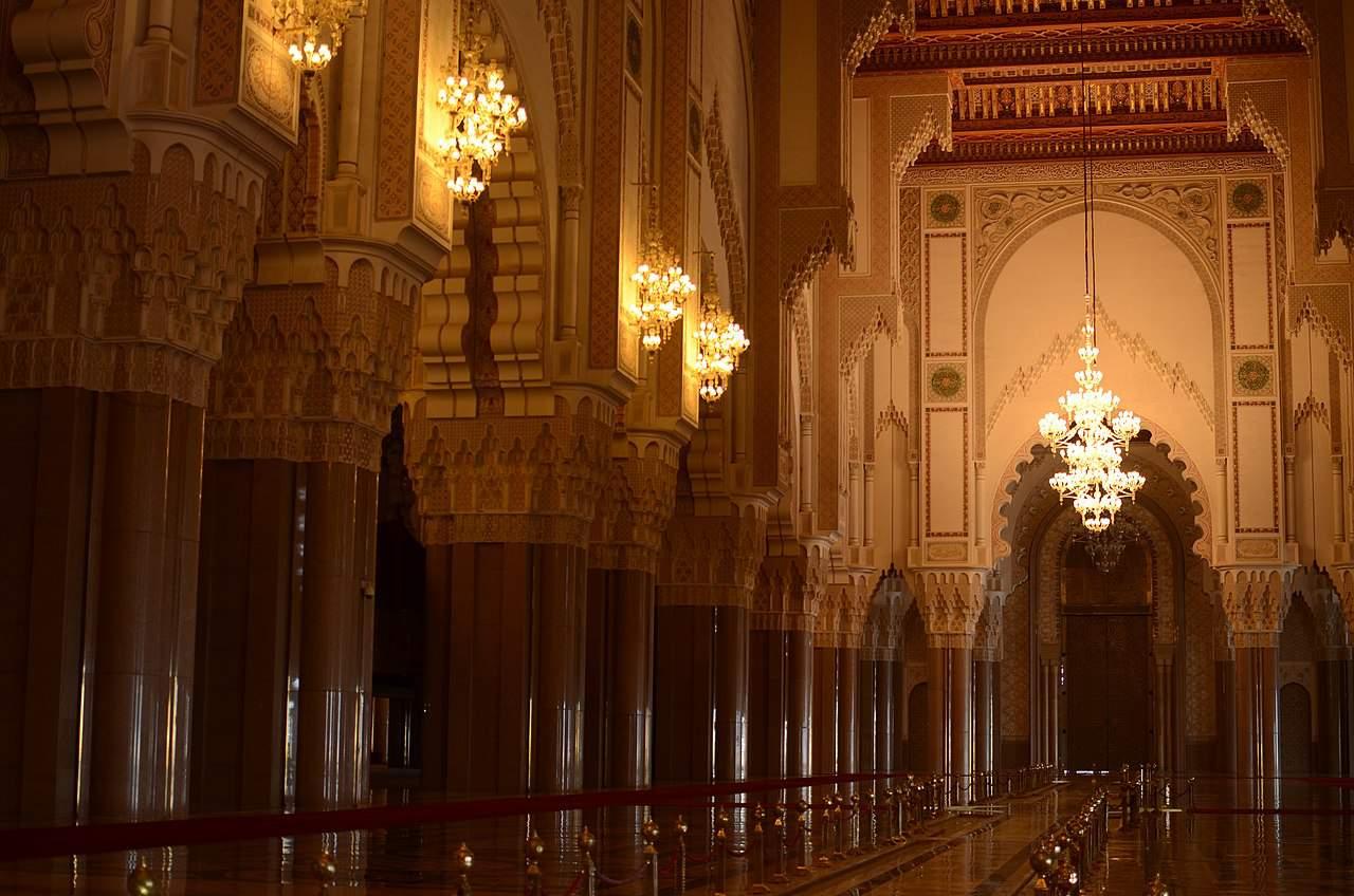 Inside of Hasan II Mosque