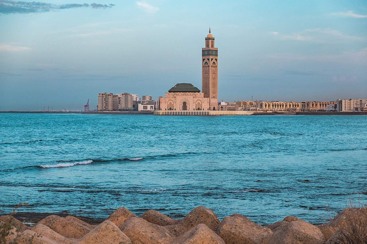 Hasan II Mosque from the ocean