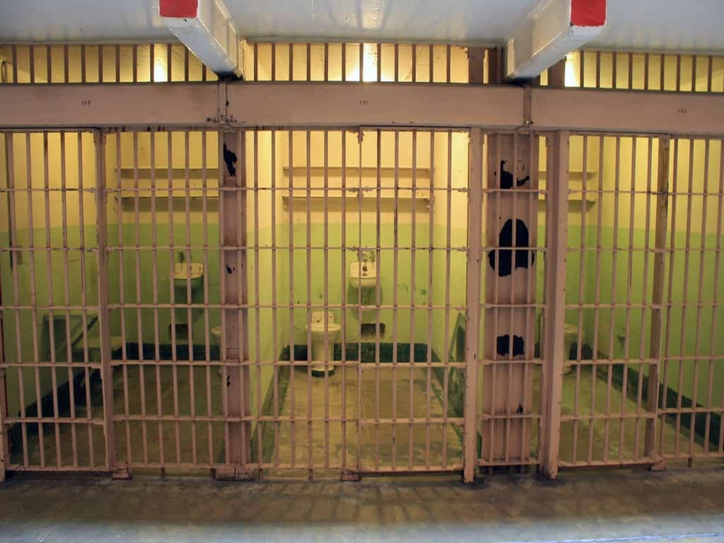 Prison cells at Alcatraz Island
